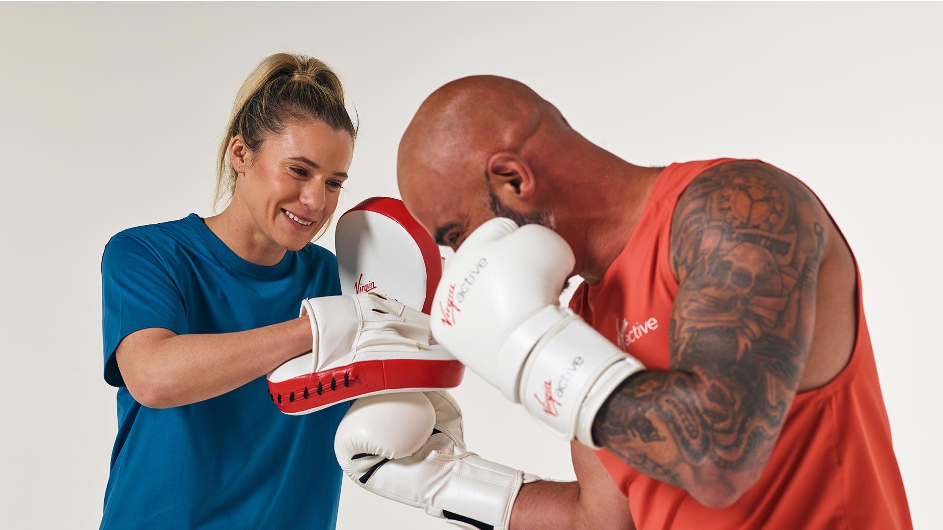 Boxing pad play