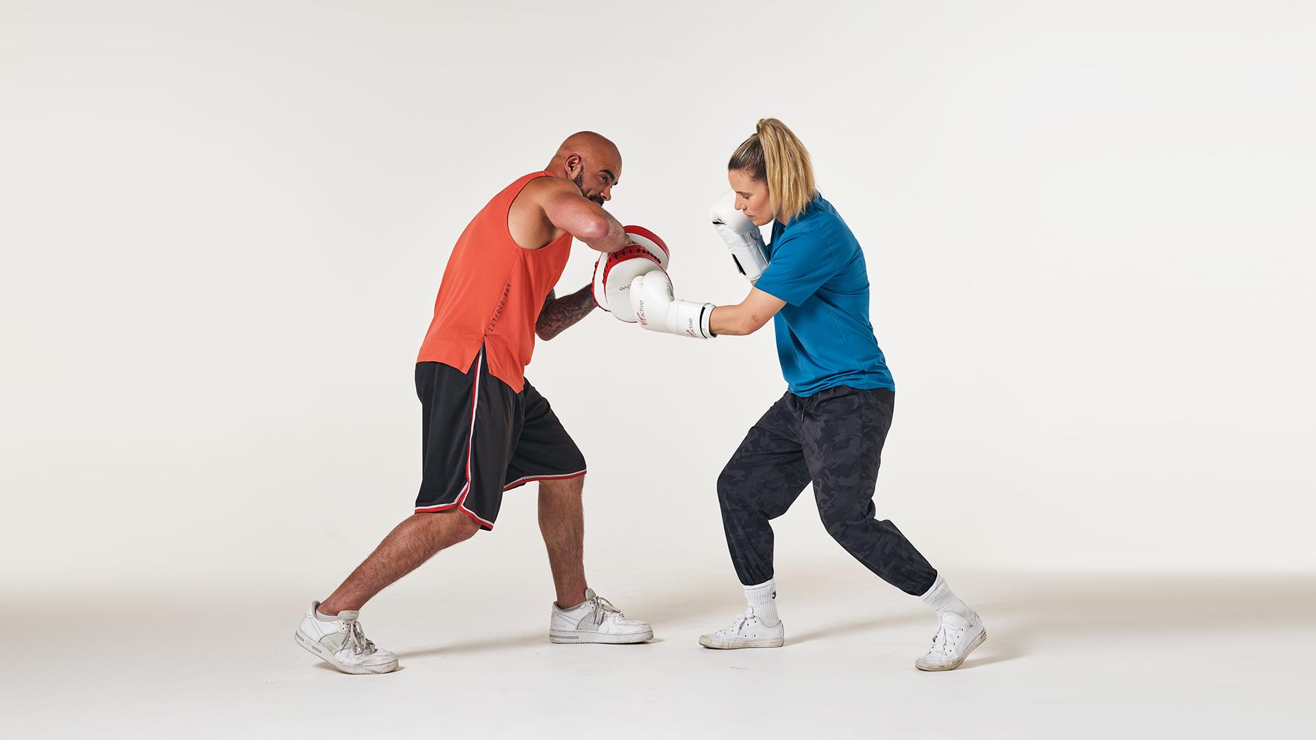 Boxing pad work